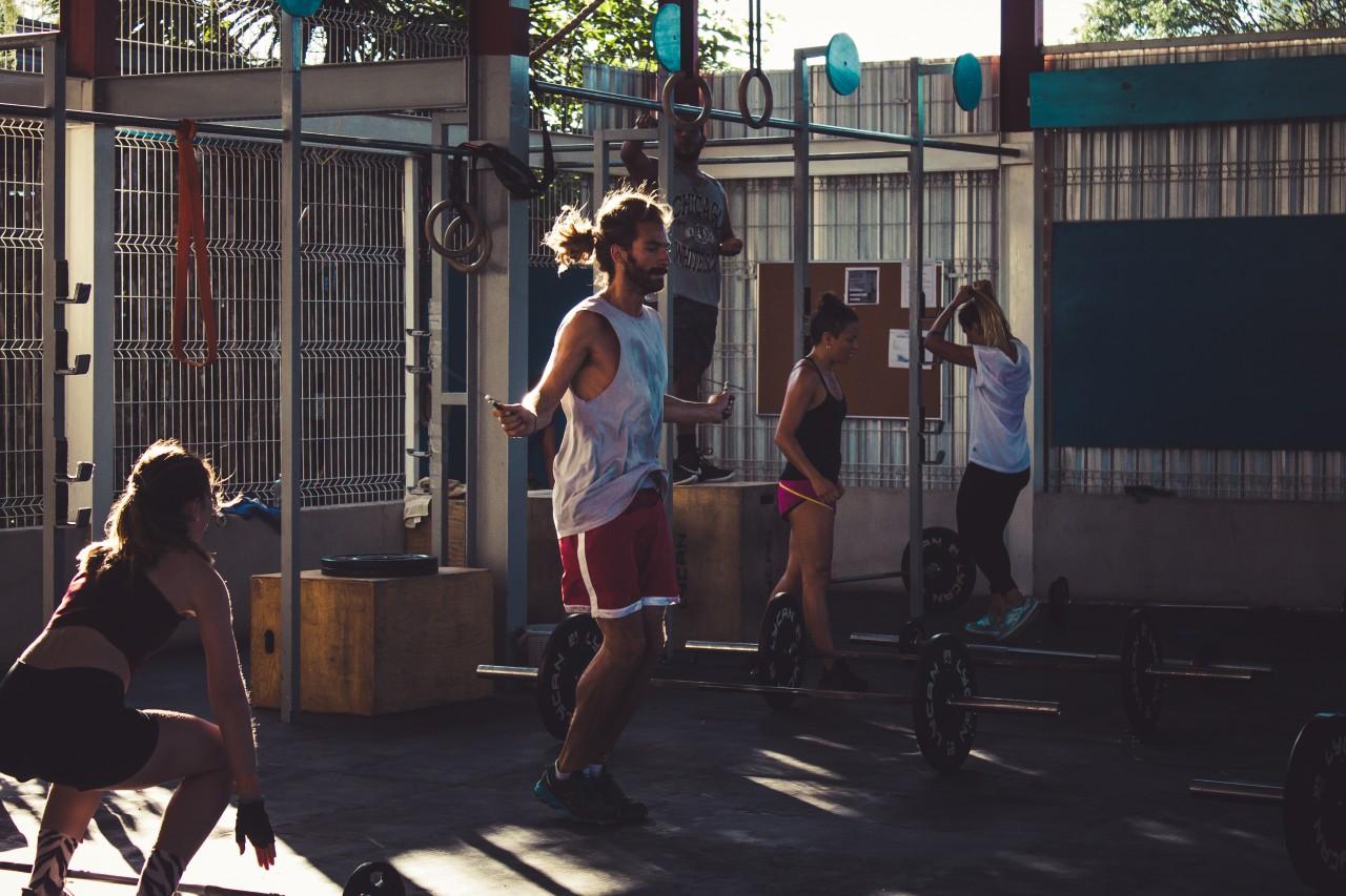 Training at Tulum Crossfit Gym