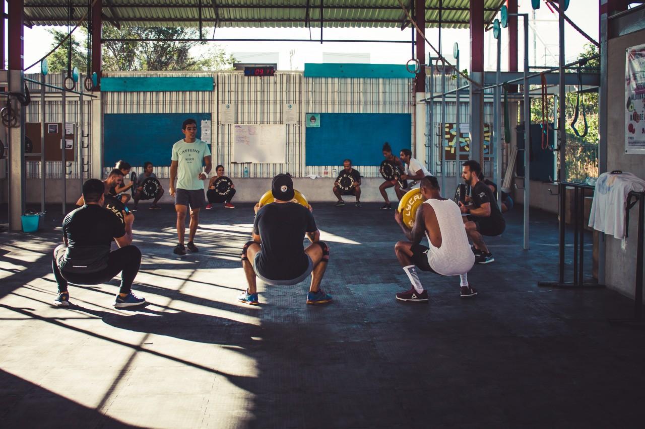Crossfit training in Tulum Gym