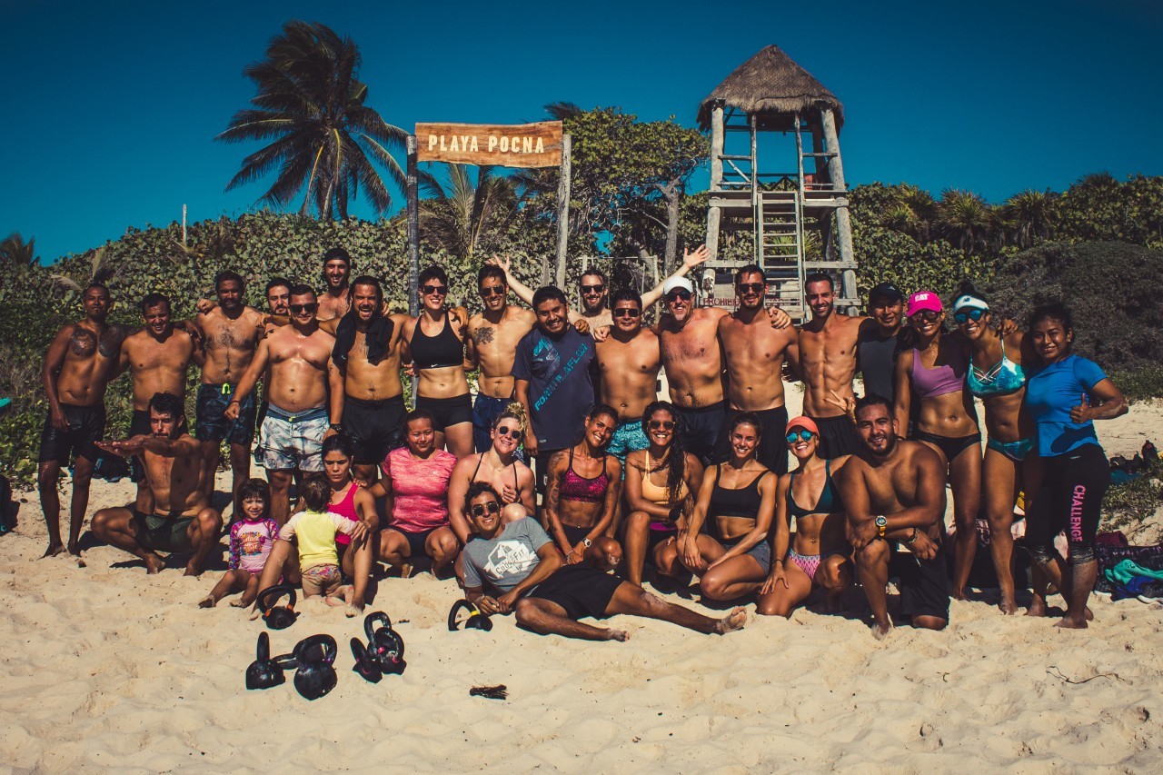 Beach day at Tulum Gym