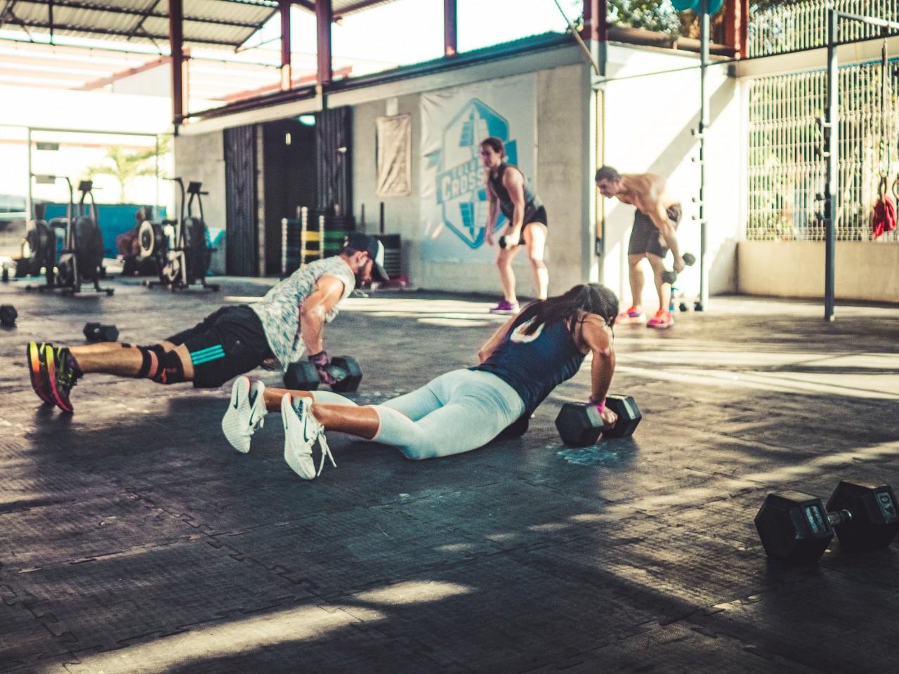 Entrenando en el Gym, Tulum Crossfit